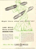 Lane-Wells Company 1953 Vintage Ad Oil Field Bridging Plugs Right