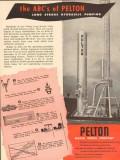 Pelton Water Wheel Company 1953 Vintage Ad Oil ABC Long Stroke Pumping