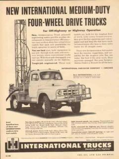 international harvester 1953 med-duty 4-wheel drive trucks vintage ad