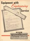 Maintenance Engineering Corp 1953 Vintage Ad Oil MECO Salt Water Meter