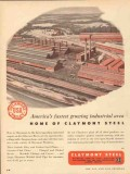 claymont steel 1953 america fastest growing industrial area vintage ad