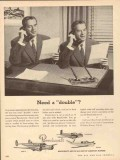 beech aircraft corp 1953 need a double beechcraft airplane vintage ad