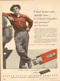 United States Rubber Company 1953 Vintage Ad Oil Handles Any Pressure