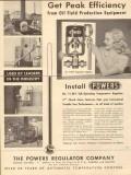 Powers Regulator Company 1953 Vintage Ad Oil Field Peak Efficiency