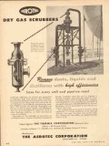 Aerotec Corp 1953 Vintage Ad Gas Scrubbers Remove Dust Liquids Dry
