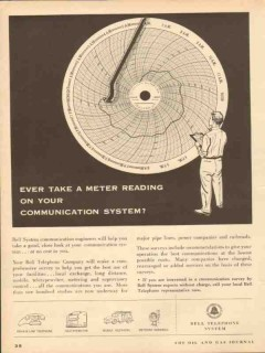 bell telephone system 1953 ever take meter reading system vintage ad