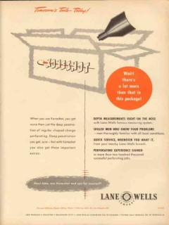 Lane-Wells Company 1953 Vintage Ad Oil Field Koneshot Tools Package