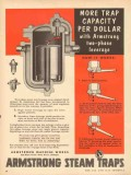 Armstrong Machine Works 1953 Vintage Ad More Trap Capacity Leverage