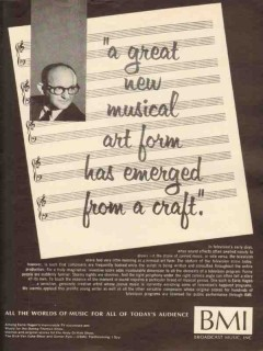 broadcast music inc 1965 earle hagen bmi great new musical vintage ad