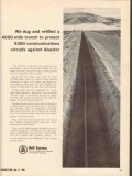 bell system 1965 to protect 9300 circuits against disaster vintage ad