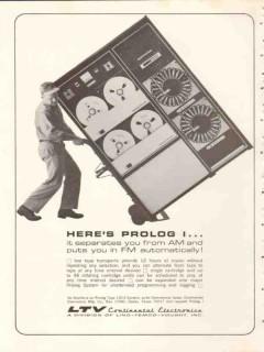 continental electronics mfg company 1965 ltv heres prolog i vintage ad