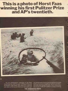 associated press 1965 horst faas photograph pulitzer prize vintage ad