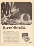 3m magnetic products 1965 wnhc film scotch brand video tape vintage ad