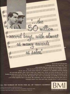broadcast music inc 1965 leiber and stoller hound dog vintage ad