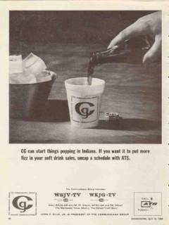 communica group 1965 indiana wsjv-tv 28 wkjg-tv 33 vintage ad