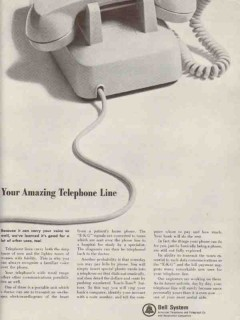 bell system 1965 your amazing telephone line ekg pay bills vintage ad
