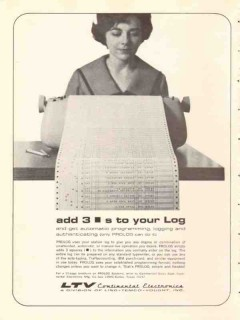 continental electronics mfg company 1965 ltv add to the log vintage ad