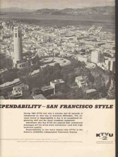 ktvu 1965 san francisco oakland ca dependability style ch 2 vintage ad