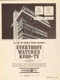 kvoo tv 1965 tulsa ok everybody watches news weather sports vintage ad