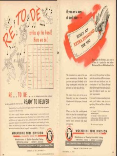 calumet and hecla inc 1953 wolverine tube ready to deliver vintage ad