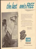 Clark Brothers Company 1953 Vintage Ad Oil Compressors Last Ones Free