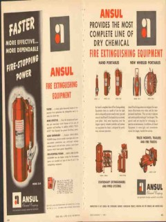 ansul chemical company 1953 fire extinguishing equipment vintage ad