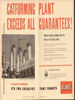 Atlantic Refining Company 1953 Vintage Ad Catforming Plant Exceeds All