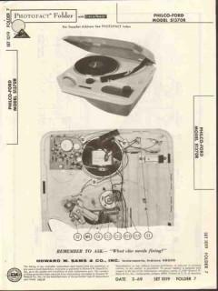 philco-ford model s1370r phonograph sams photofact manual