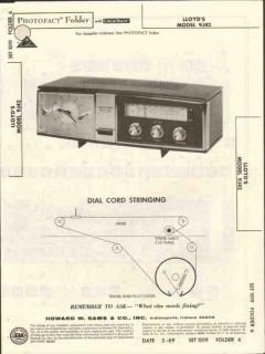 lloyds model 9j42 am fm clock radio sams photofact manual
