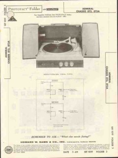 admiral chassis 8t3 8t3a phonograph sams photofact manual