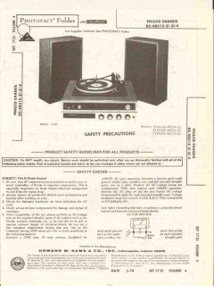 philco models c140 c142 c144 am fm stereo phono sams photofact manual