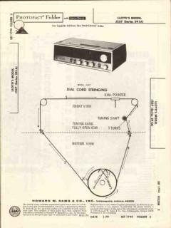 lloyds model j257 am fm clock radio sams photofact manual