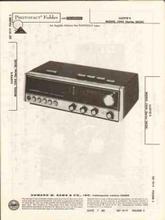 lloyds model j244 am fm stereo clock radio sams photofact manual