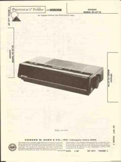 hitachi model kc-671h am fm clock radio sams photofact manual