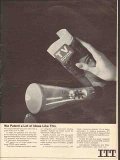 itt 1965 philo farnsworth we patent ideas like this tv tube vintage ad