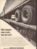 association of american railroads 1965 truck take the train vintage ad