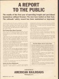 association of american railroads 1965 report to the public vintage ad