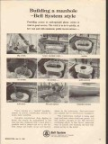 bell system 1965 building a manhole quick low cost vintage ad