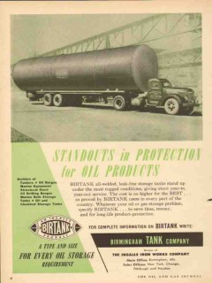 Birmingham Tank Company 1953 Vintage Ad Oil Products Storage Standouts