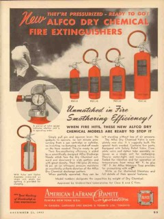 American LaFrance Foamite Company 1953 Vintage Ad Fire Extinguishers