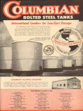 Columbian Steel Tank Company 1953 Vintage Ad Oil Low Cost Storage