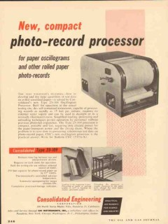 Consolidated Engineering Corp 1953 Vintage Ad Photo-Record Processor
