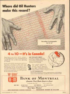 bank of montreal 1953 did oil hunters make this record vintage ad