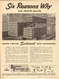 Brown Fintube Company 1953 Vintage Ad Oil Heat Exchangers Six Reasons