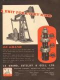 Le Grand Sutcliff Gell Ltd 1953 Vintage Ad Oil Field Unit Every Need