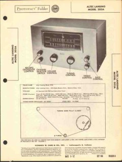 altec lansing model 303a am fm radio tuner sams photofact manual