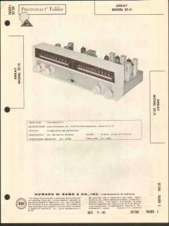 arkay model st-11 am fm radio tuner sams photofact manual