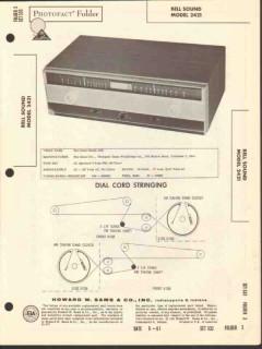 bell sound model 2421 am fm radio tuner sams photofact manual