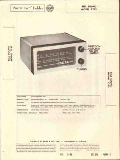 bell sound model 2255 am fm radio tuner sams photofact manual