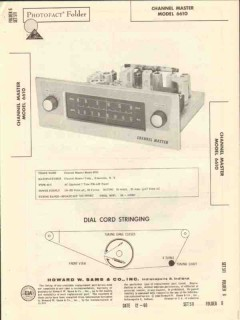 channel master model 6610 am fm tuner sams photofact manual